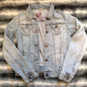 Hollister Faded Light Blue Jean Jacket